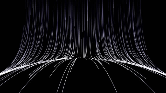 Abstract creativity background. Thin white lines on a black background.