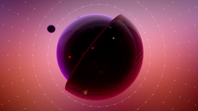Abstract Cross Section Of Multiple Spheres With Particle Effects video