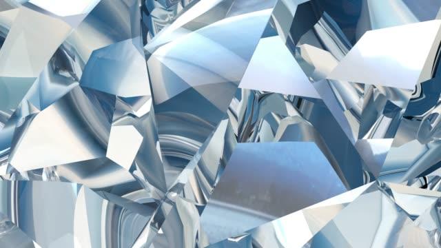 stockvideo's en b-roll-footage met crystal geometrische achtergrond, abstract 3d-animatie in een lus. - magazine mockup