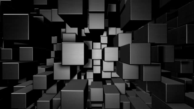 Abstract cube animation video