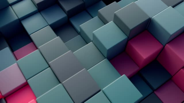 Abstract cube background. Abstract cube background. 4K CGI animation. block shape stock videos & royalty-free footage