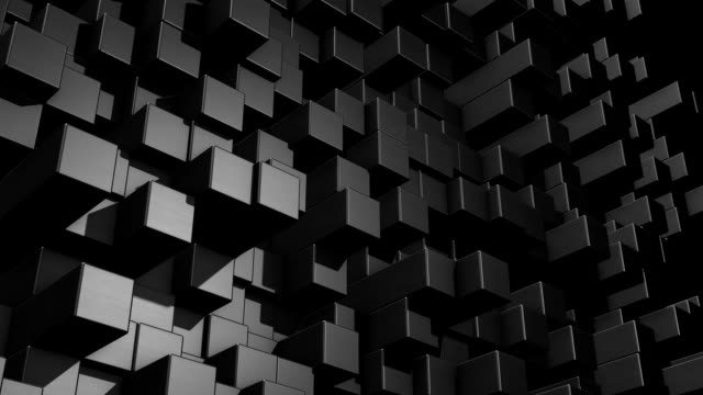 Abstract cube background video