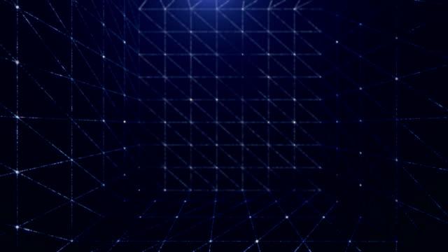 abstrakte cube hintergrund (endlos wiederholbar) - quadratisch komposition stock-videos und b-roll-filmmaterial