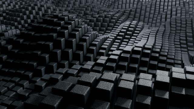 vidéos et rushes de abstrait fond cube - cube