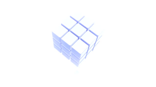 3D Abstract Cube Spinning video