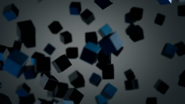抽象的なキューブの形成 - 立方体点の映像素材/bロール