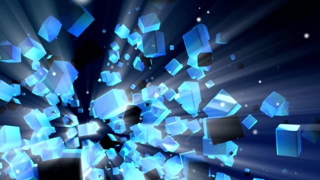抽象的なキューブ - 立方体点の映像素材/bロール