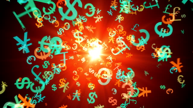 Abstract currency symbol video