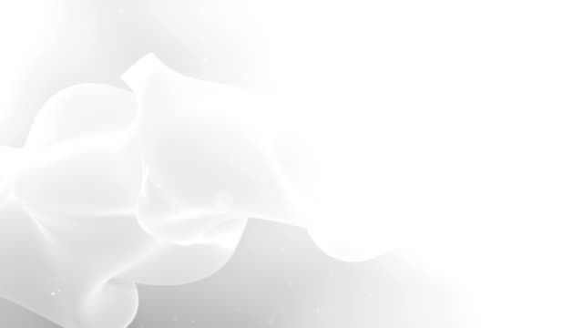 추상적인 곡선 배경 - white background 스톡 비디오 및 b-롤 화면