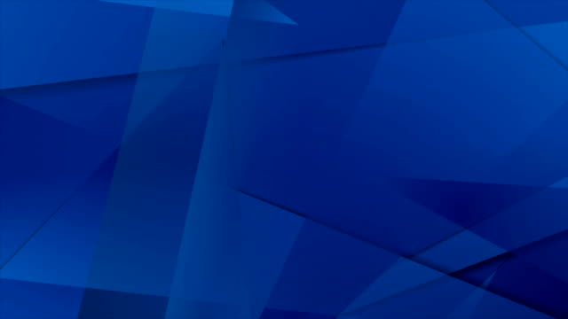 Abstract dark blue technical polygonal motion design