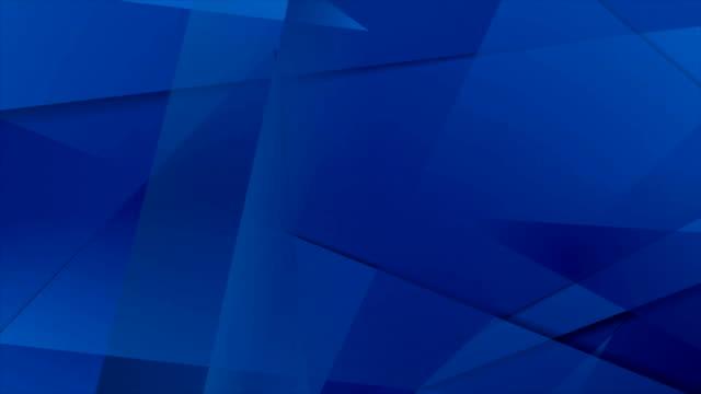 abstrakte dunkel blau technische polygonalen motion-design - geometrische form stock-videos und b-roll-filmmaterial