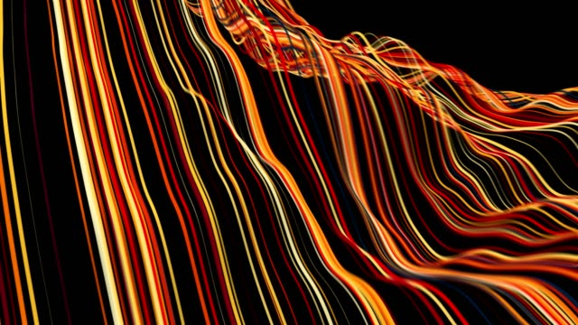 Abstract Data Wave Lines. Abstract Data Wave Lines. Seamless Loop. 4K. wire mesh stock videos & royalty-free footage