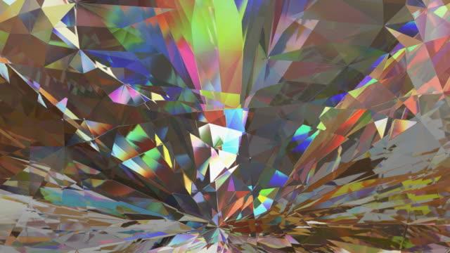抽象鑽石動畫 - 可循環移動圖像 個影片檔及 b 捲影像