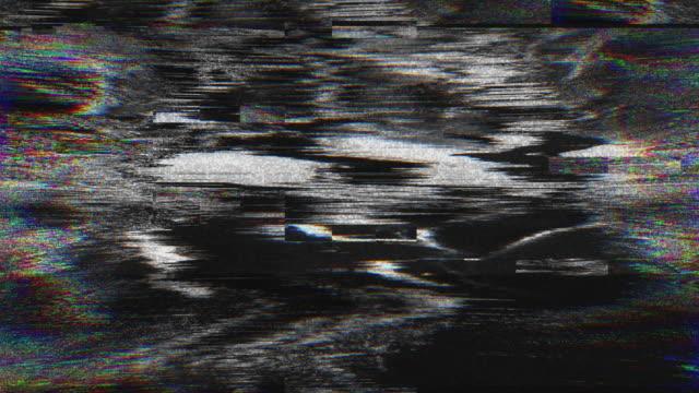 abstrakta digital animering pixel brus glitch fel video skador - problem bildbanksvideor och videomaterial från bakom kulisserna