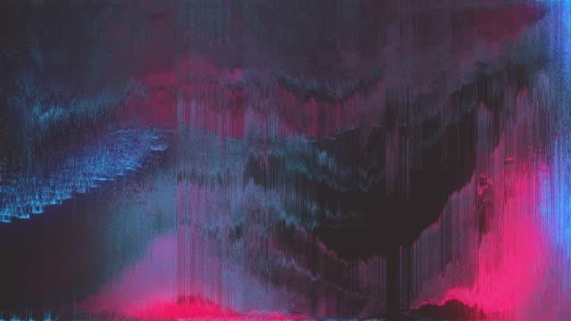 abstract digital animation pixel noise glitch error video damage - проблемы стоковые видео и кадры b-roll