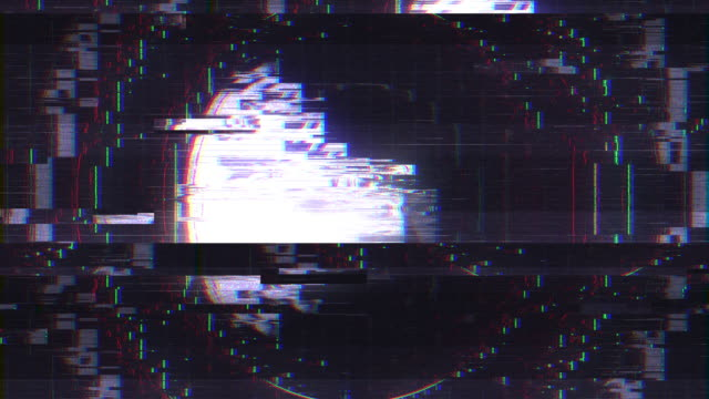 Abstract Digital Animation User Interface HUD with Pixel Noise Glitch Error Video Damage video