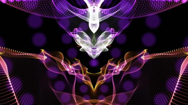 vídeos de stock e filmes b-roll de 4k abstract digital background animation loopable elements, digital wave particles form concept - padrão repetido