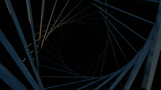 vídeos de stock, filmes e b-roll de cyber digital abstrata túnel fundo - padrão repetido