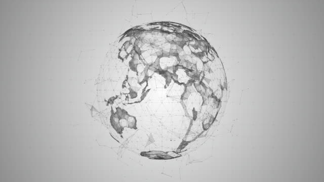 abstract digital globe - world map stock videos & royalty-free footage