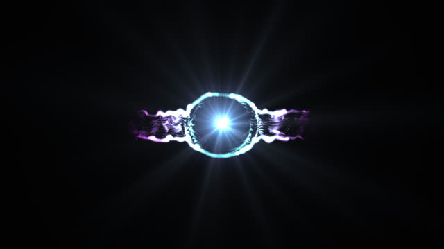 stockvideo's en b-roll-footage met abstracte digitale lens flare met speciaal effect. rond flare ontwerp met ster - mandala