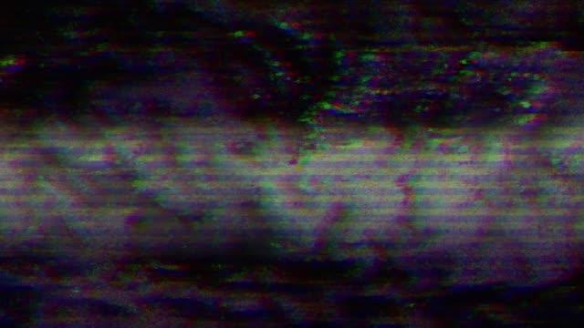抽象的なデジタル ノイズ。グリッチの破損しているビデオ - 木目のビデオ点の映像素材/bロール