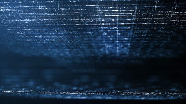 abstraktes hintergrundkonzept der digitalen technik. bewegung des digitalen datenflusses. übertragung von big data. übertragung und speicherung von datensätzen. , blockchain, server, internet. - überprüfung stock-videos und b-roll-filmmaterial