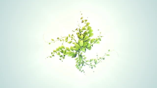 abstract digitaly Plant growth background