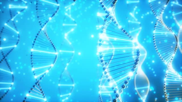 vídeos de stock e filmes b-roll de 4k abstract dna double helix. - hélice formas geométricas