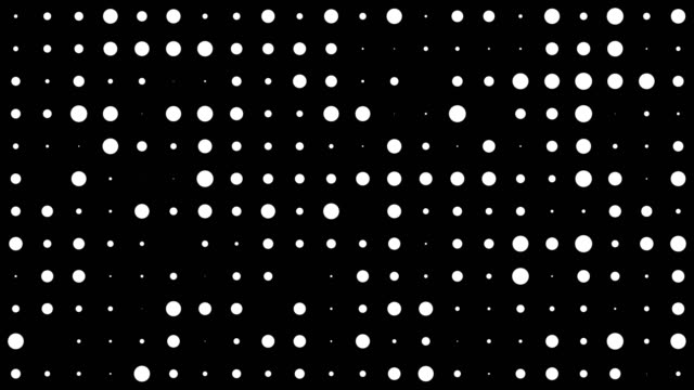 Abstract dot pattern video