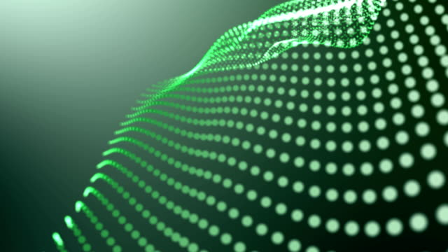 Abstract Dots Loop Green Background 4K video