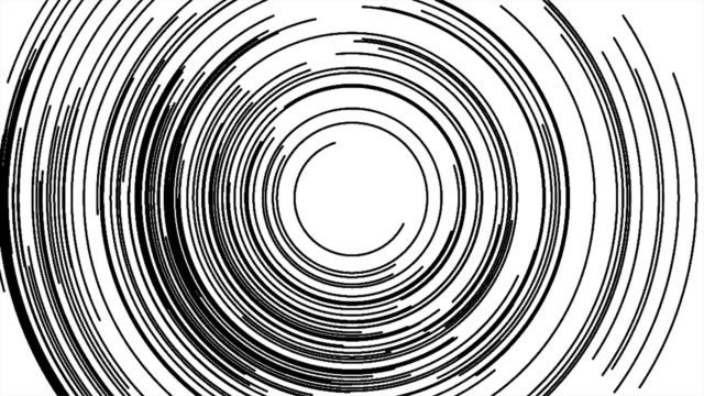 Abstract drawing background with black and white concentric lines. video