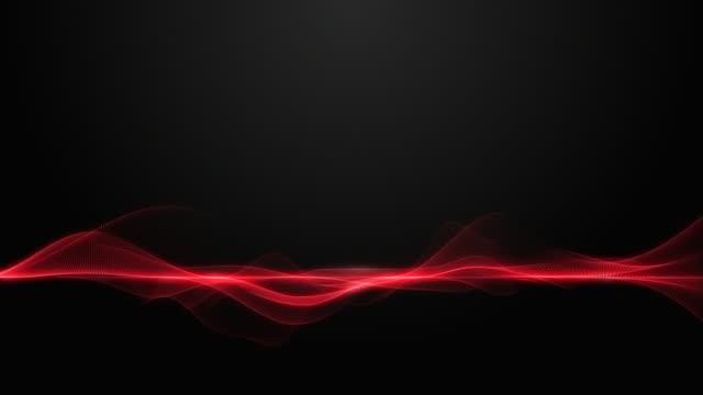 abstrakt dynamisk våg form smidig flytta på mörk bakgrund - red silk bildbanksvideor och videomaterial från bakom kulisserna