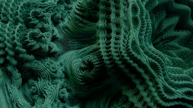 vídeos de stock, filmes e b-roll de teste padrão de expansão abstrato do fractal 4k. - organic shapes