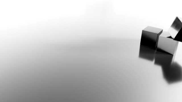 cubi cadenti astratti 4k. - a forma di blocco video stock e b–roll