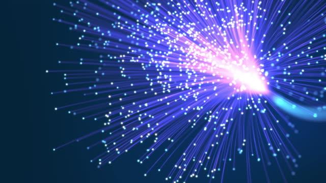 Abstract fiber optics background.