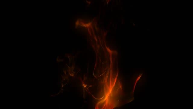 Alfa mat katman ile soyut yangın arka plan animasyon video