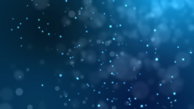 Abstract fire bokeh on blue background video
