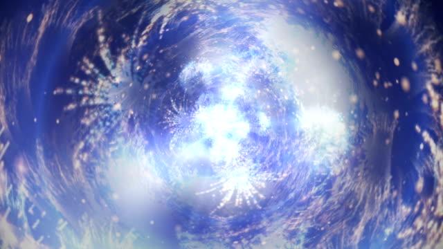 vidéos et rushes de fond abstrait tunnel de feu d'artifice - fête de naissance