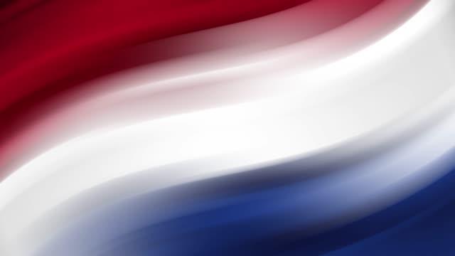 vidéos et rushes de drapeau abstrait des pays-bas : animation en boucle transparente - patriotisme