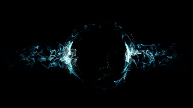 vidéos et rushes de abstrait lisse électrique fluide vagues de fond - électricité