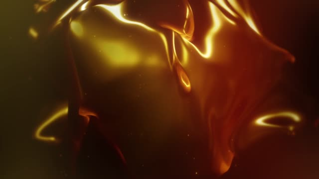 Abstract flowing fluid shape animation 4k prores video of Abstract flowing fluid shape animation. 3d illustration gold colored stock videos & royalty-free footage