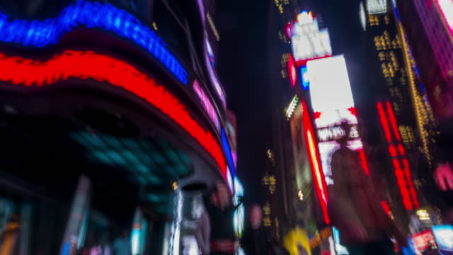 Abstract footage of moving people at Time Square video