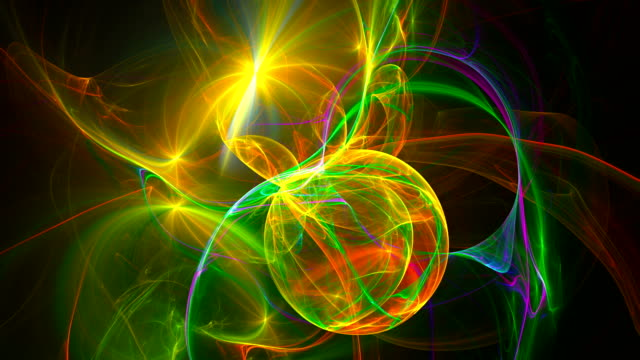 Abstract fractal background 3d rendering animation. Seamless loop