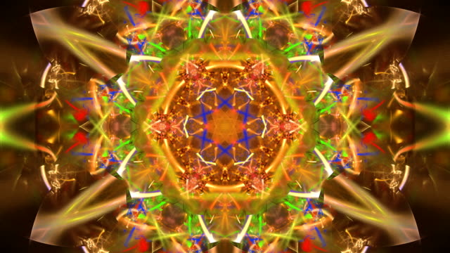 vídeos de stock e filmes b-roll de abstract fractal footage for creative design - mandala