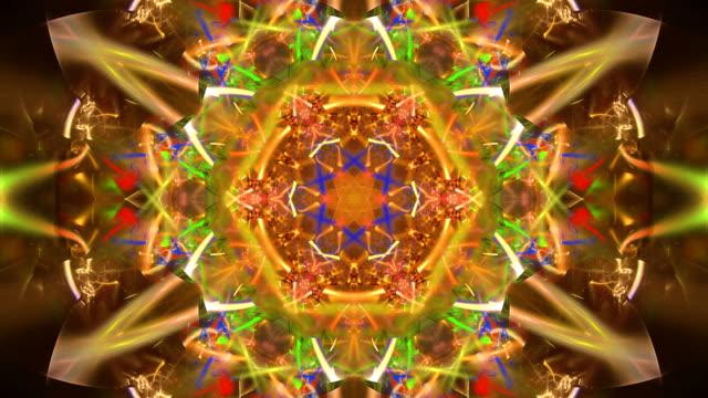 abstrakta fractal footage för kreativ design - mandala bildbanksvideor och videomaterial från bakom kulisserna