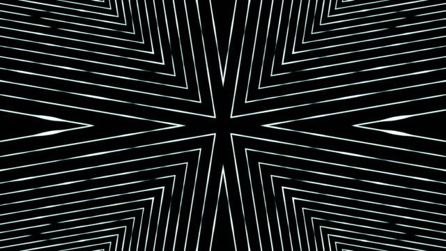 abstract fractal kaleidoscope background - узор калейдоскоп стоковые видео и кадры b-roll