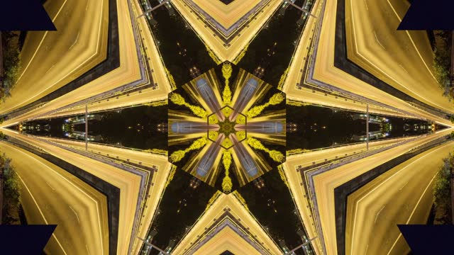 abstract fractal kaleidoscope background with seamless 4k loop animation