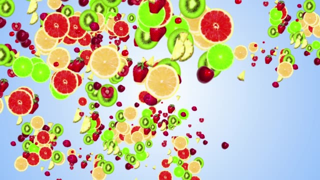 abstract fruits firework on alpha chenal abstract explosion fruits fireworks with alpha chenal citrus fruit videos stock videos & royalty-free footage