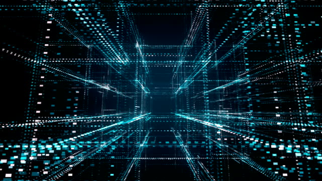 Abstract futuristic background of binary code information technology with grid. Abstract futuristic background of binary code information technology with grid. HUD the four elements stock videos & royalty-free footage