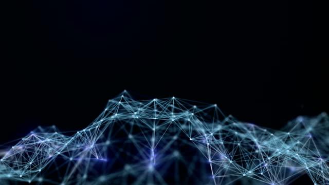 Abstrakte futuristische Daten Verbindungen Hintergrund, Technologie-Konzept – Video